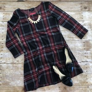 NWT Papillon Mia Plaid 3/4 Sleeve Dress